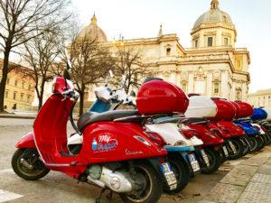 прогулки на мотороллерах по риму